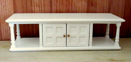Столик Sofa Table-white, кукольная миниатюра 1:12