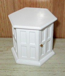 Столик End Table-white, кукольная миниатюра 1:12