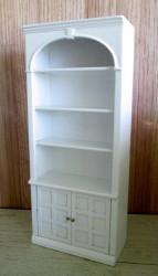 Книжный шкаф Bookcase-white, кукольная миниатюра 1:12