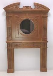 Камин Victorian Fireplace, орех, миниатюра 1:12
