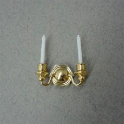 Подсвечник настенный на две свечи, масштаб 1:12