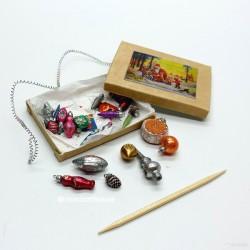 Набор новогодних игрушек, Большой с пикой, миниатюра 1:12