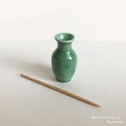 Ваза зеленая, миниатюра 1:12