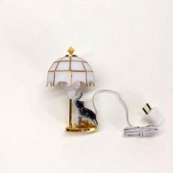 Лампа настольная Tiffany со статуэткой для кукольного домика