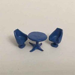 Круглый стол со стульями. Сет, масштаб 1:144