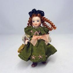 Девочка в зеленом платье, миниатюра