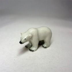 Фигурка белый медведь, миниатюра