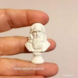 Бюст Леонардо да Винчи, миниатюра 1:12