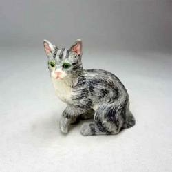 Котик серый, кукольная миниатюра