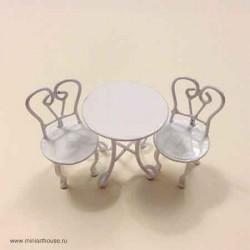 Комплект металлической мебели, миниатюра 1:24