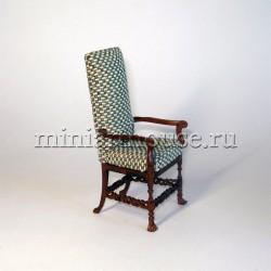 Кресло высокое. Неоготика, миниатюра 1:12