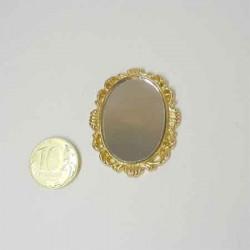 Зеркало овальное, миниатюра 1:12