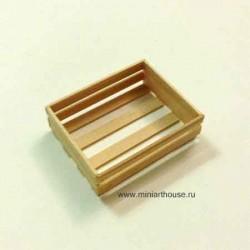 Ящик деревянный, миниатюра 1:12